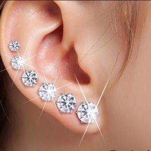 Austrian cubic zirconia crystal stud earrings.